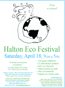 Read more about the article 9th Annual Halton Eco Festival – We'll be there! What about You?