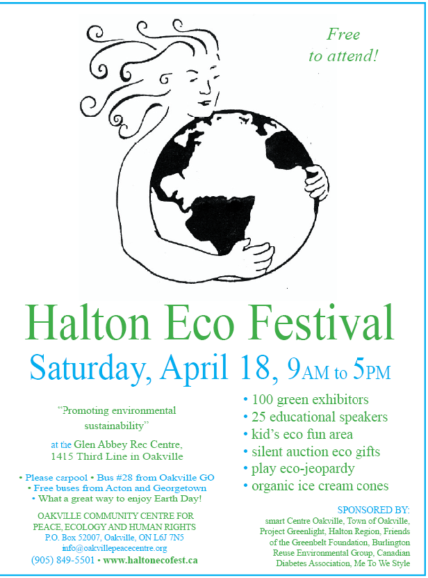 9th Annual Halton Eco Festival – We'll be there! What about You?