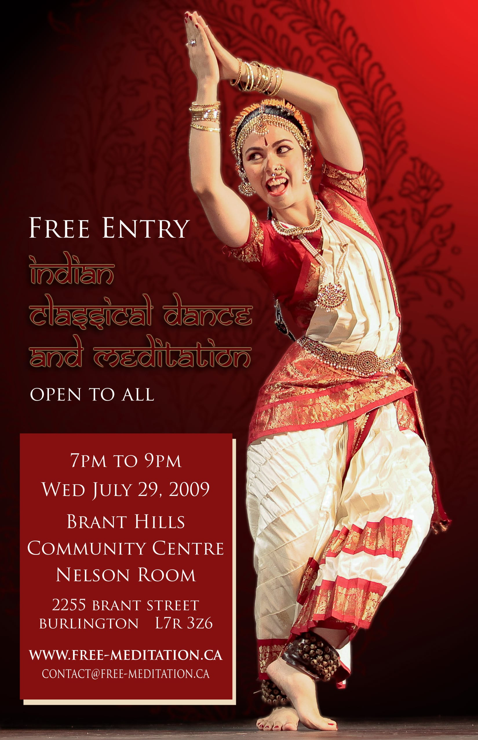 Don't miss: Free Kuchipudi Dance Performance & Meditation – in Burlington TONIGHT!