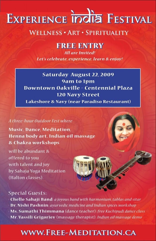 Experience India in Centennial Park - Downtown Oakville Halton