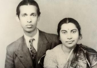Nirmala Salva  (a Christian) was engaged with CP Srivastava (a Hindu) .. the rest is History .. She became the beloved motherly guru for sahaja yogis all over the world and known as Shri Mataji .. and he became the fatherly figure in the UN's maritime world.