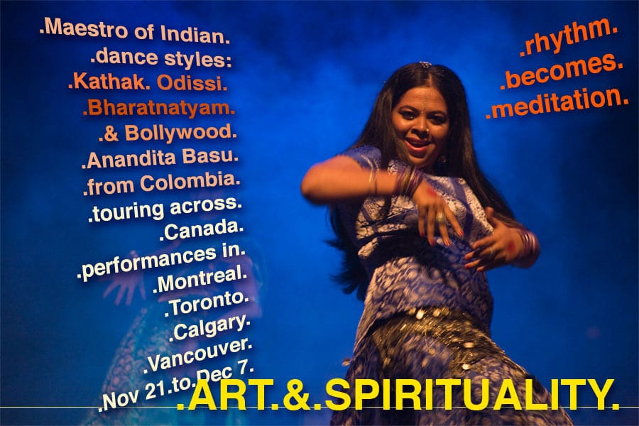 "Check the NEWS with VIDEOS & STORIES: ""When Rhythm becomes Meditation""  – Anandita's Tour in Canada -2009!"