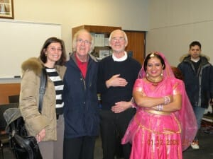 Anandita, Reg (the Story teller), Howard (the main presenter!) and Emiliana - all GTA sahaja yogis