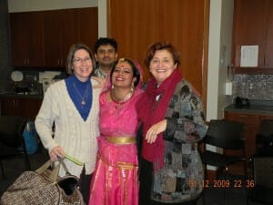 Cheryl, Erna, Anandita and another sahaja yogi from Whitby
