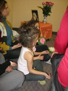 Children were meditating too!