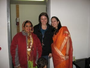 Anandita with Colette from Staircase Theatre (co-sponsor of this evening) and Sujata, one of the coordinators for Hamilton Sahaja Yoga Classes