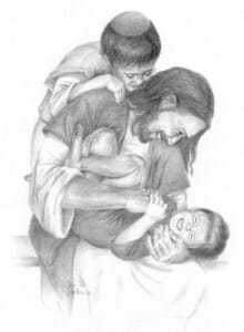 jesus-with children - unknown author