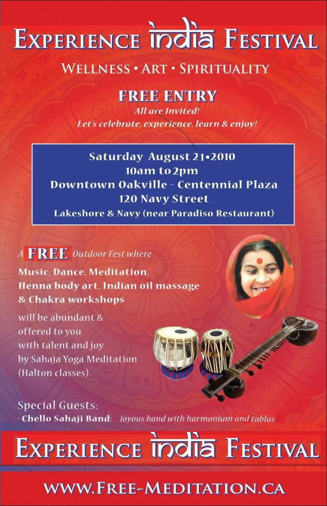 Read more about the article Experience India FREE ANNUAL Festival in Oakville Downtown on Saturday, Aug 21, 2010