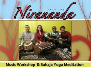 Nirananda Band & Ahilan & Sahaja Yoga Meditation in a Special FREE Event in Burlington on Wednesday, August 11 @ 7PM