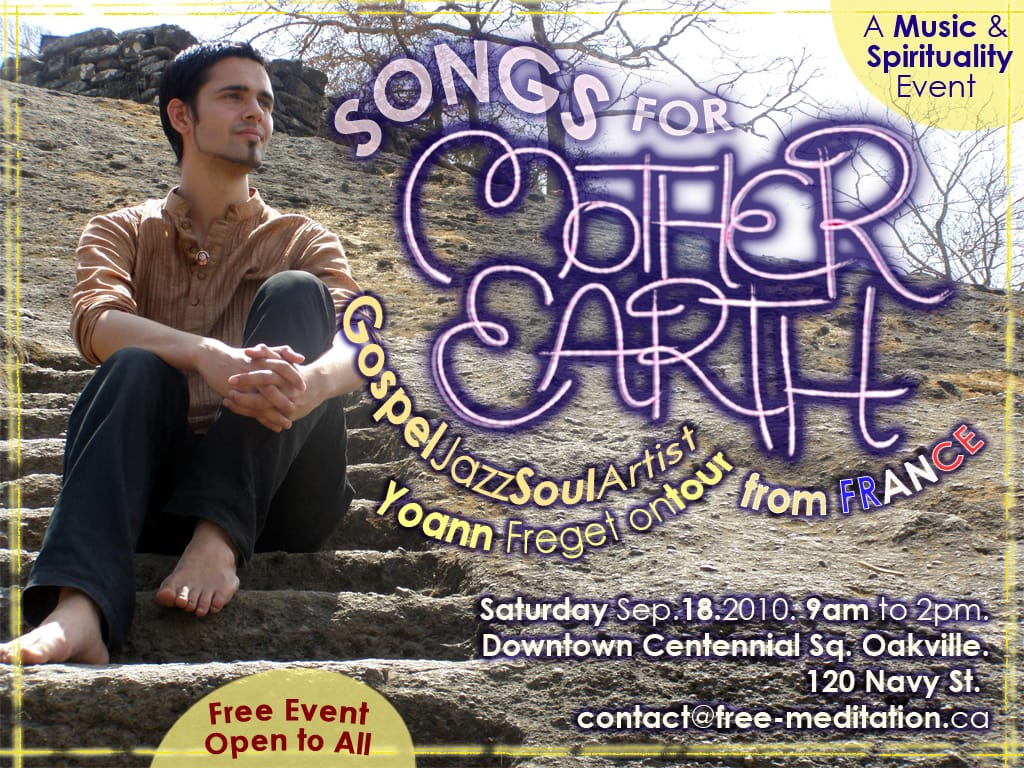 Free Concert with Yoann – Oakville,This Saturday,Sept 18