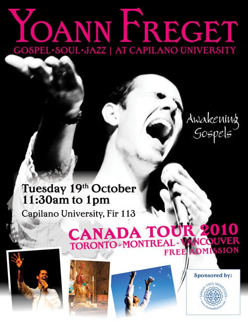 Yoann is going to Vancouver – 4 Concerts!