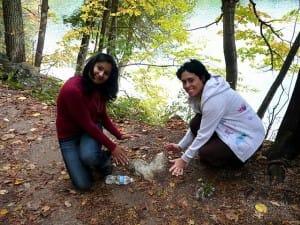 Photos & Anjali's Letter on YOANN's Visit @ Crawford Lake
