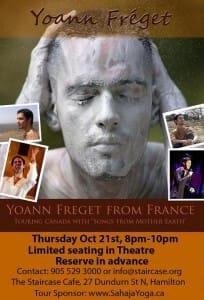 Yoann's Concert with Omar @ The Staircase Theatre in Hamilton – on Thursday, October 21 @ 8PM (recital John Lennon & Stevie Wonder)