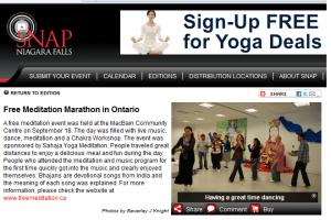 "We've got SNAP'd in Niagara Falls: ""Experience India"" & Meditation Marathon (Sahaja Yoga's)- September 2011!"
