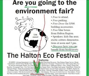 (MUSIC VIDEOs!) Visit our booth @ 12th Annual Halton Eco-Festival on Saturday, April 14!! (FREE Oakville Event)
