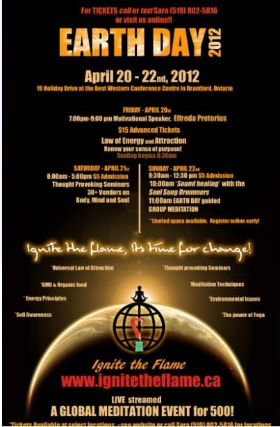 Join Earth Day Meditation @Ignite The Flame on April 21-22 (Brantford)