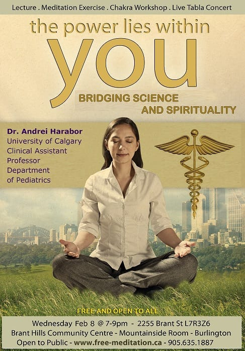 (video!) dr. Andrei's PRESENTATION in Burlington: Science & Meditation
