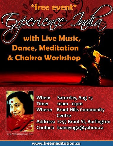 Experience India in Burlington on Sat, Aug 25th @10 AM