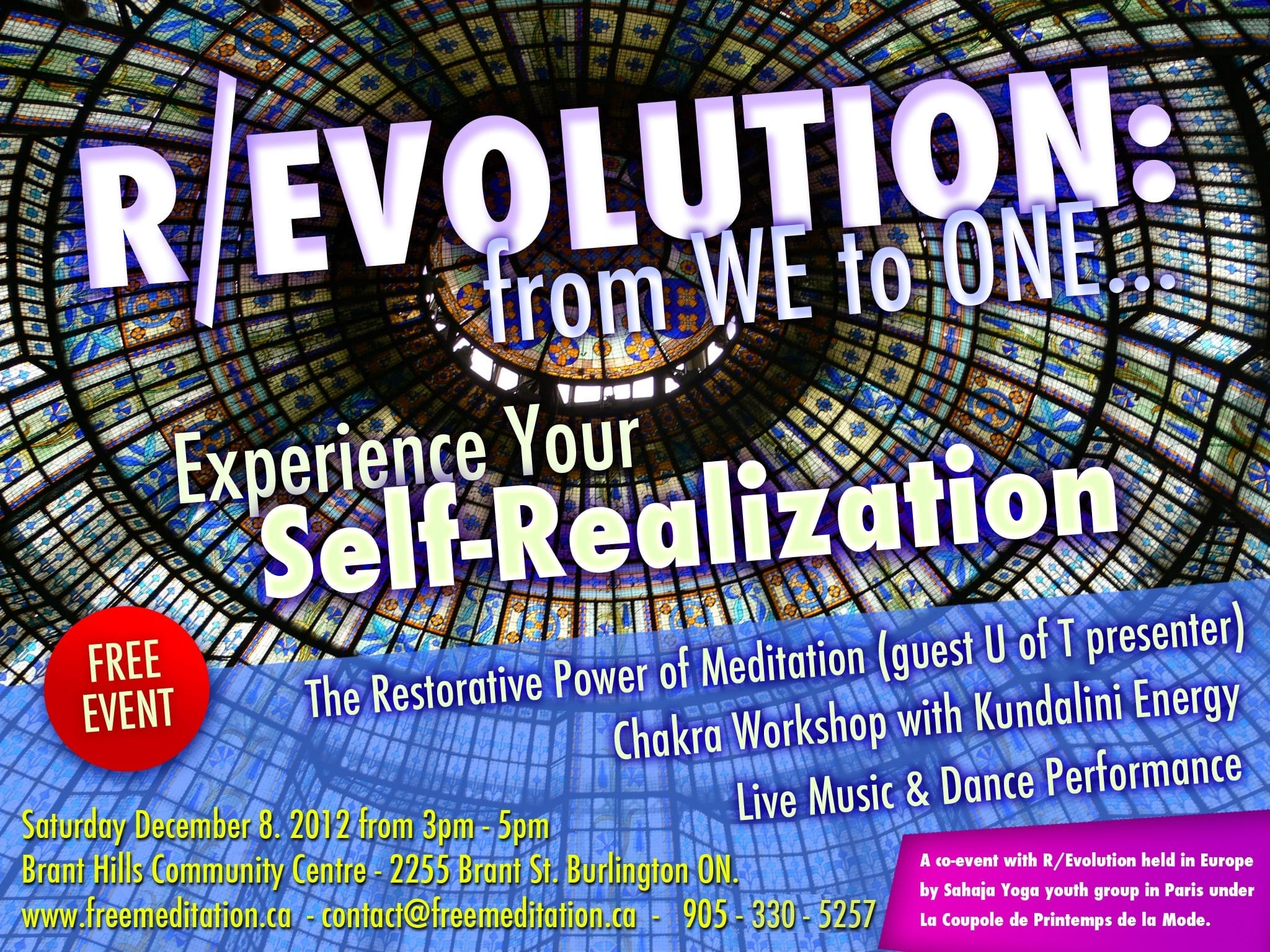 Join the R/Evolution in Ontario – FREE Public Event on December 8th, 2012