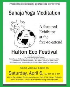 Sahaja Yoga Meditation: A Featured Exhibitor @ 13th FREE Annual Halton Eco-Festival (Sat, April 6, 2013)