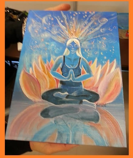Shri Adi Shakti - Painting by artist Brenda yogini from Burlington class - for Canajoharie seminar