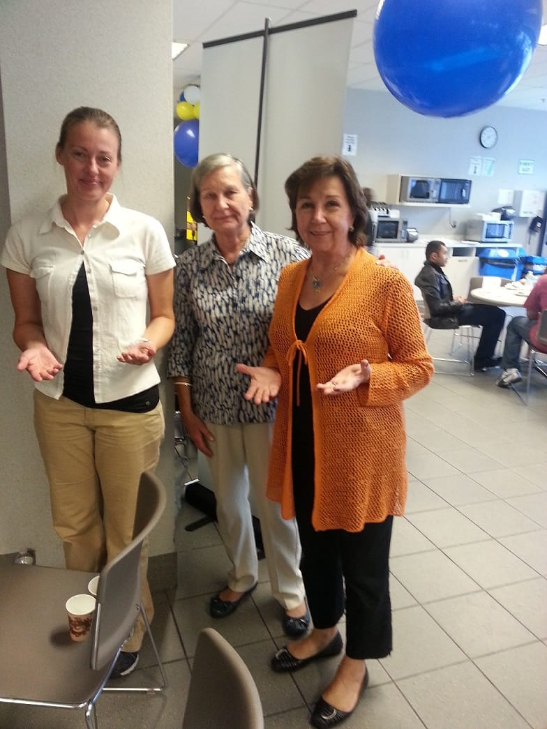 Isabelle Wendedy and Norma  from Halton -Niagara classes  - from the Realization team at Tech data corp