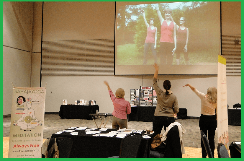 Paula, Brenda and Isabelle - dancercizing by the end of the Conference