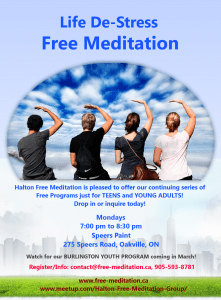 Meditation Experiment: Georgetown Highschool's Students & Youth Program (Feedback – November 2013)