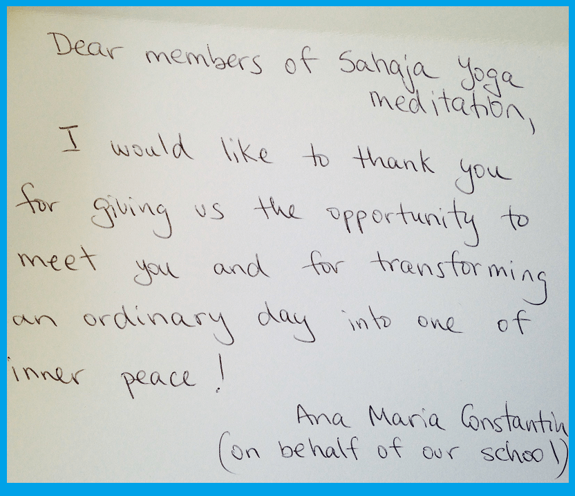Thank you Letter- March 21 2013 - Dr Joseph Hayden Secondary School
