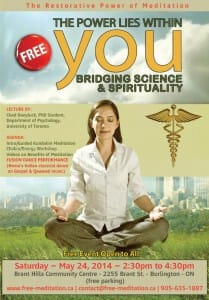 Read more about the article Bridging Science and Spirituality – FREE PUBLIC PROGRAM on Saturday, May 24th @ Brant Hills Community Centre