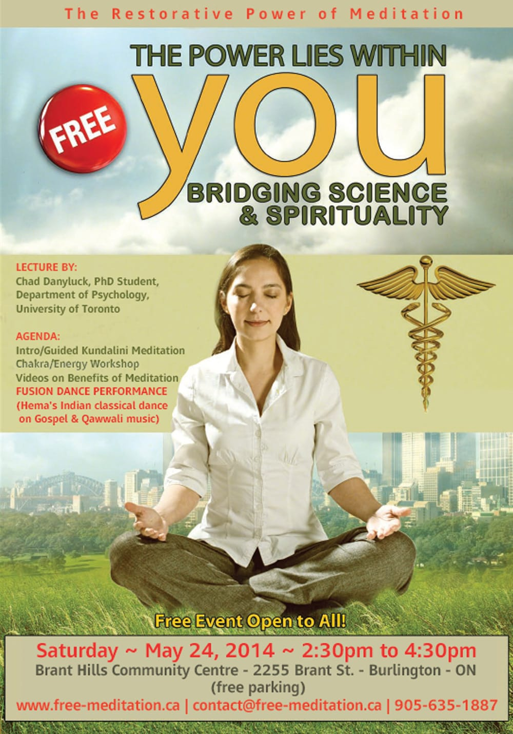Bridging Science and Spirituality – FREE PUBLIC PROGRAM on Saturday, May 24th @ Brant Hills Community Centre