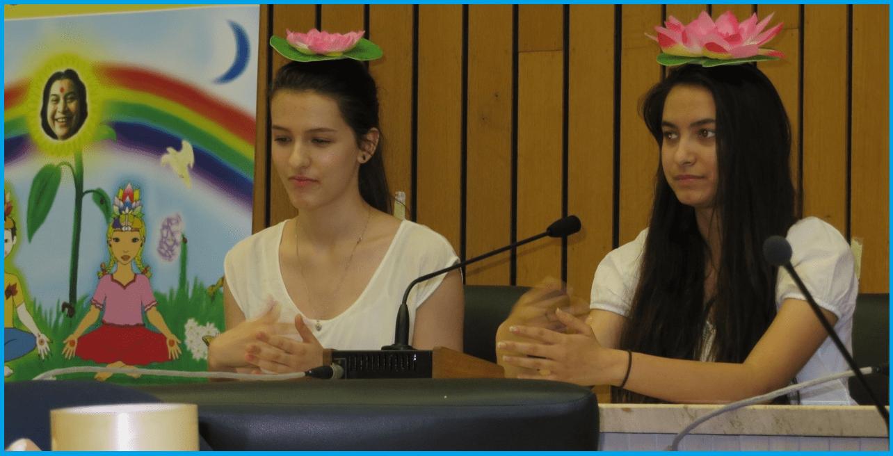 Miriam and Roshini -highschool meditators