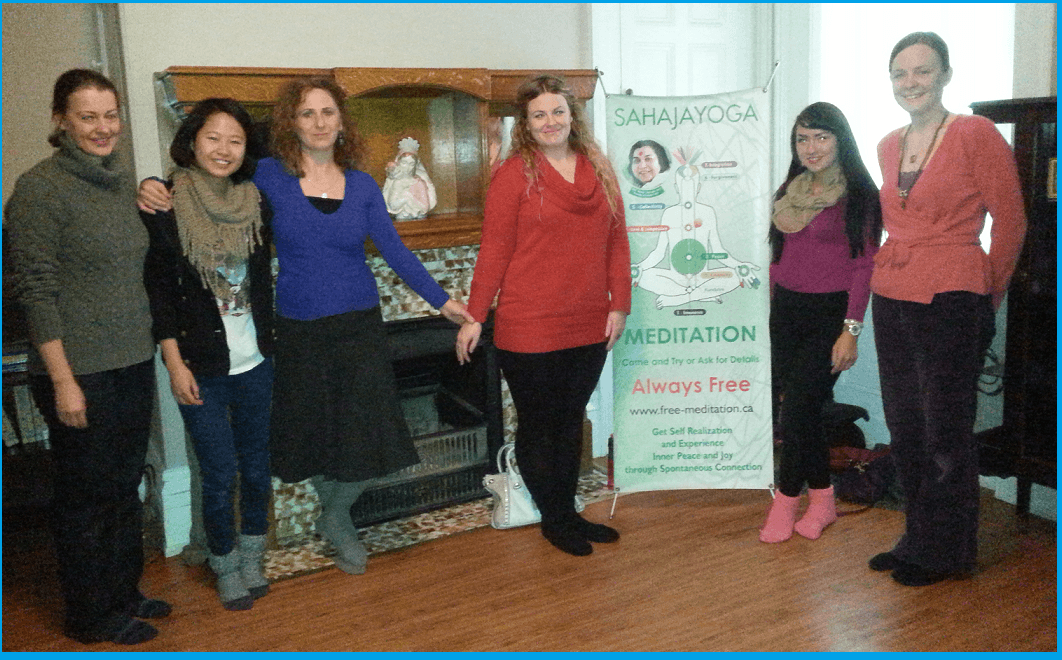 Volunteers from Sahaja (free!) yoga meditation: Isabelle, Shulin, Ioana, Holly, Cherry and Emma