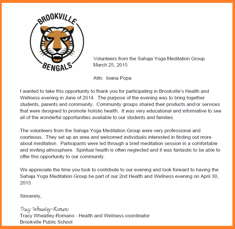 Brooksville - Thank you letter for web