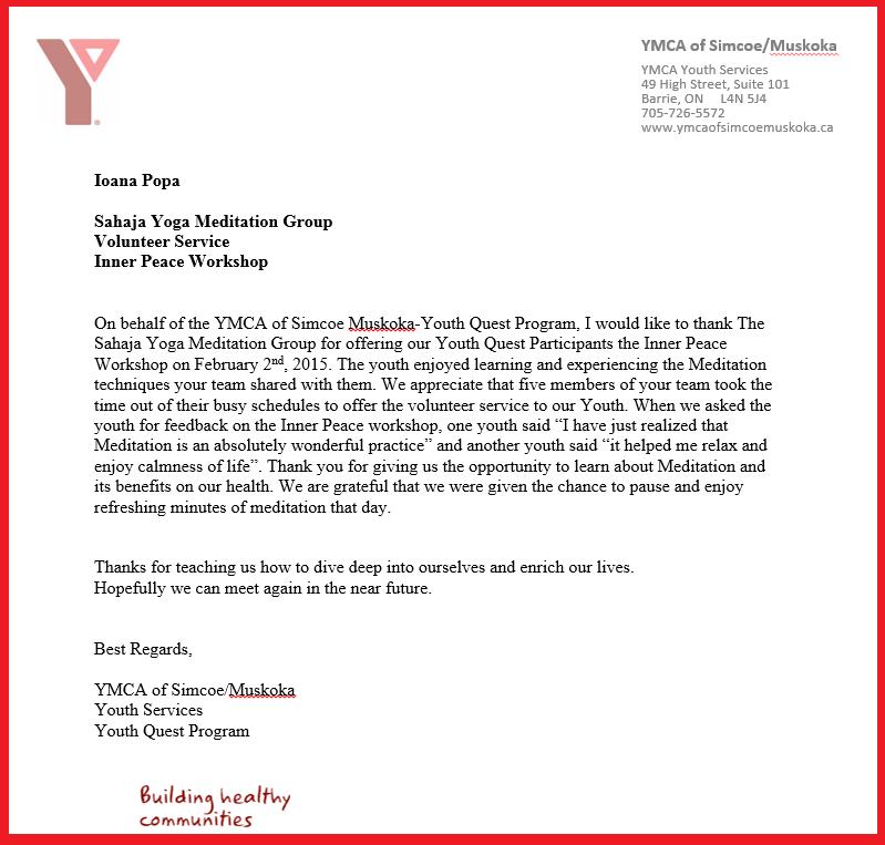 YMCA Youth Quest program - Barrie Muskoka - March 2015