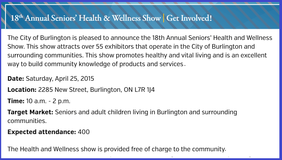 18 Annual Seniors Health and Wellness Show