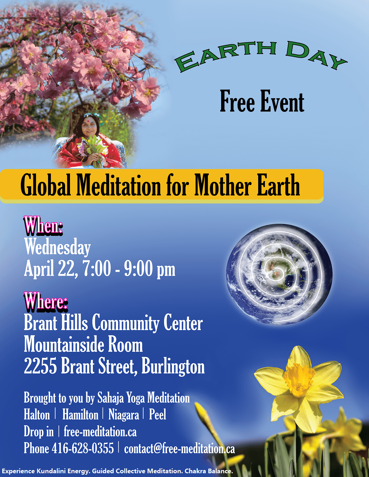 Celebrate Earth Day as Children Taking Wisdom from The Roots & FREE Public Program (Meditation Seminar)