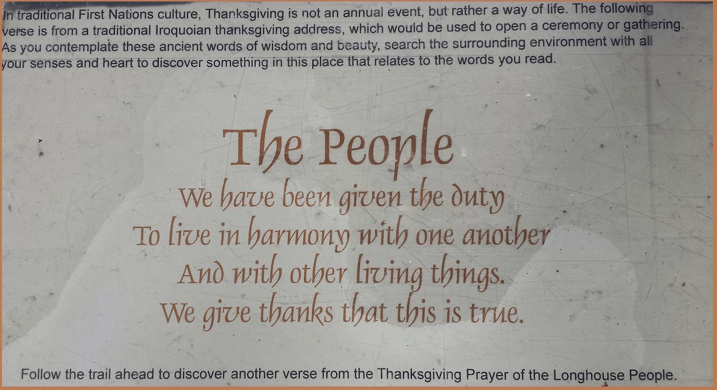 Aboriginal wisdom - The People at Crawford lake