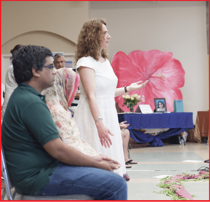 Ioana -workshop on Azeemi Sufi order Canada