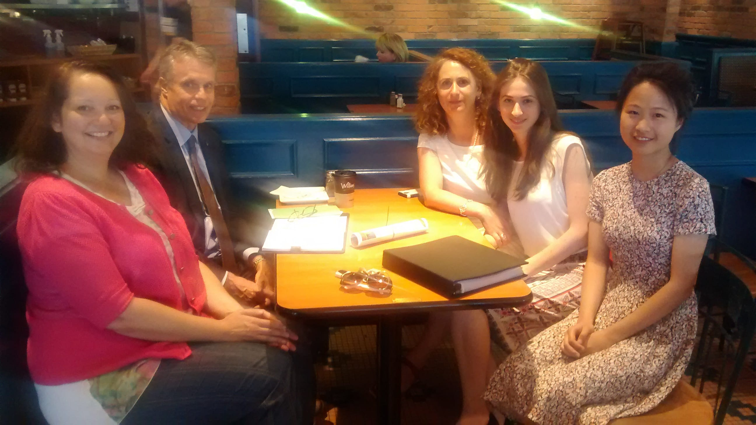 (photo) Discussion on Meditation with Mayor Goldring @ Williams Fresh Cafe (June 25, 2015) .. and it's a YES!