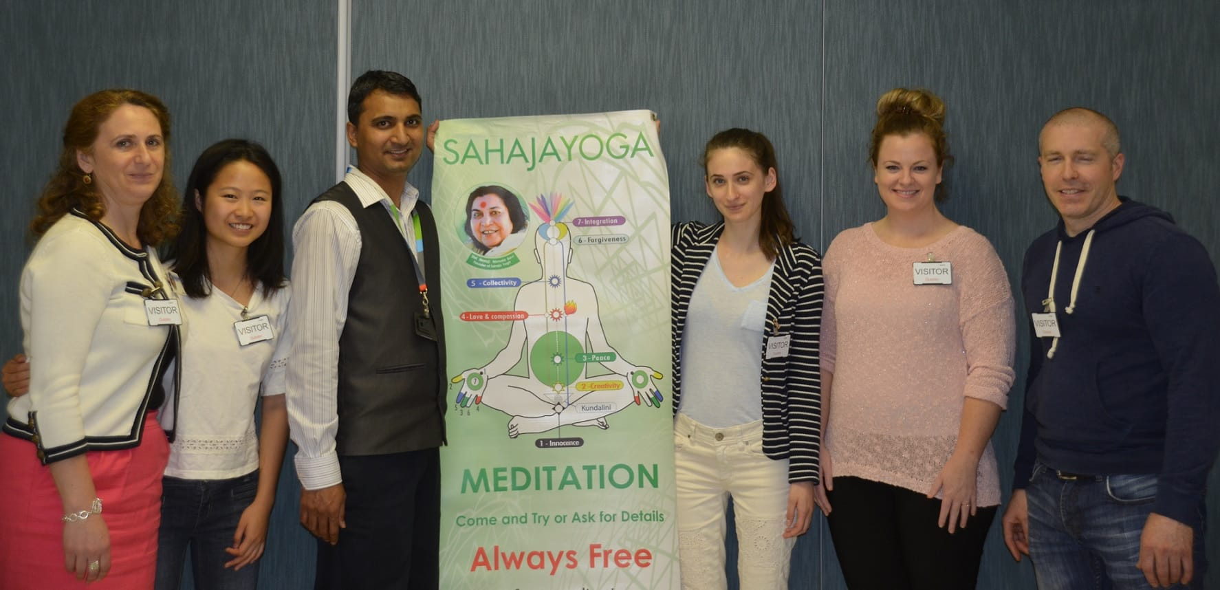 The complete Inner Peace team that visited Outotec: Only Sahaja Yogis - Ioana, Shulin, Nitin, AnaBianca, Holly and Jon