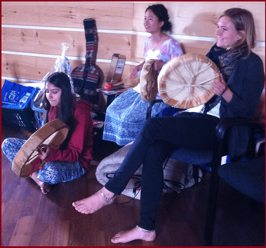 (45 Seconds) Native Drums by Realize Canada Tour  – Played by International Youth Meditators @ Round House New Credit First Nation