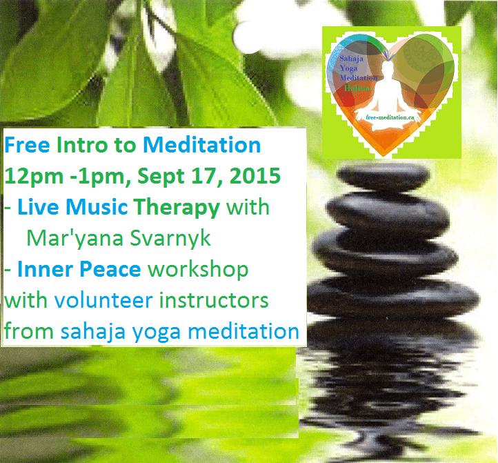 Sahaja Yoga Meditation at City Hally - Sept 17 2015 -Flyer