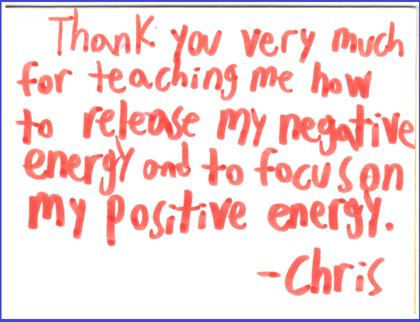 Chris 13 - Thank you for Sahaja Yoga meditation