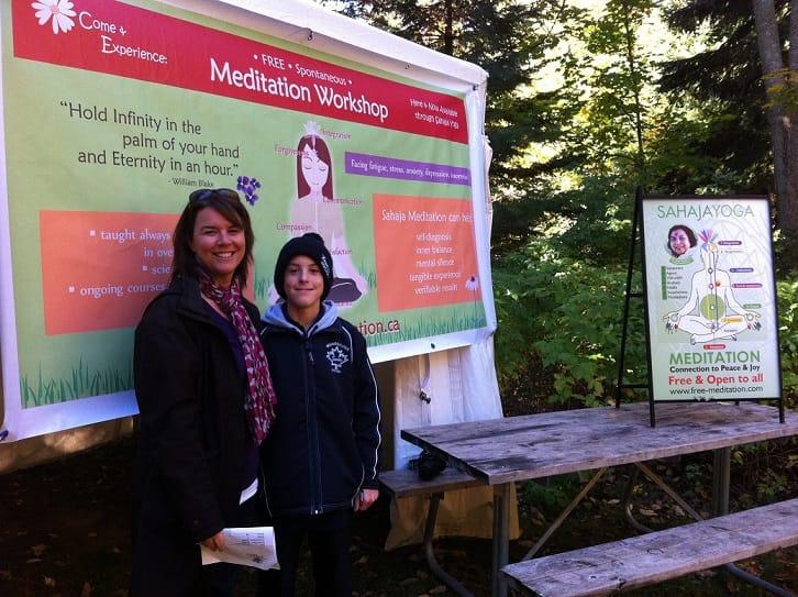 Mother and child Enjoyed Sahaja Yoga Meditation workshop on Day 1