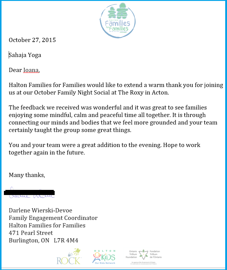 Thank you Letter from Families for Familie - 2015-web