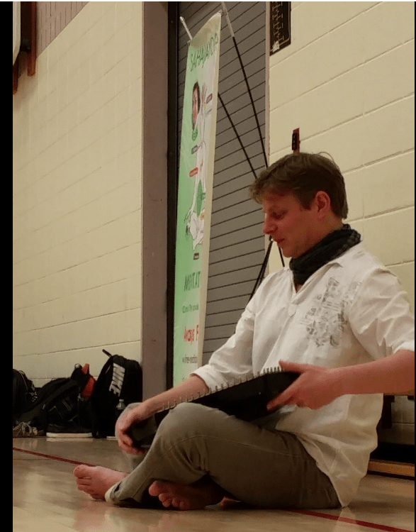 Tim Bruce at Unionsville School Class Meditation wiht Music -1
