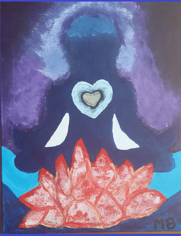 Painting by Melanie from Barrie Class as a gift to Sahaja Yoga Family -Barrie.