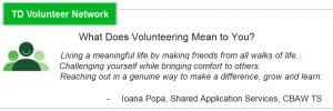 TD BANK Employee Volunteer Grant: RECOGNITION for Sahaja Yoga Meditation Volunteers *2014, *2015