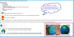 Cool Kids FUN Homework: Make a Paper Mache Earth Globe Craft